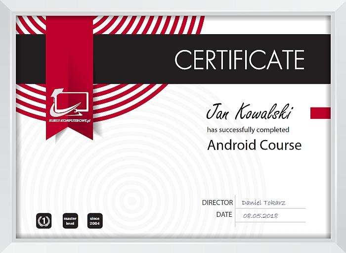 Android Certyfikat