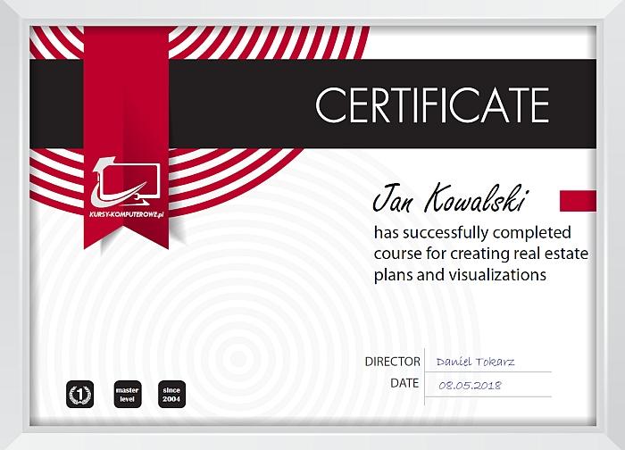 Plany i Wizualizacje Certyfikat