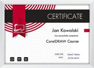 Certyfikat CorelDRAW