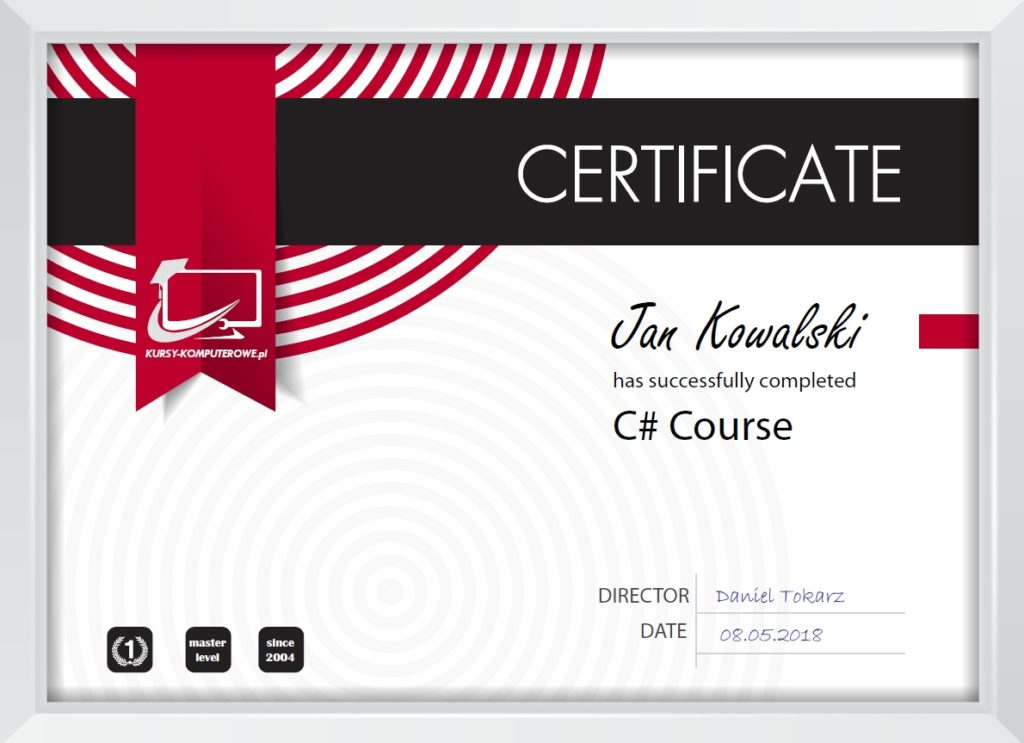 Certyfikat C#