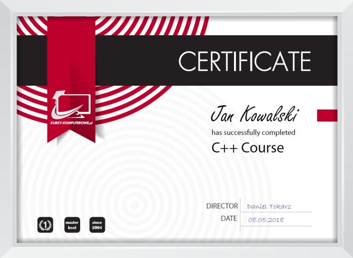 Certyfikat c++