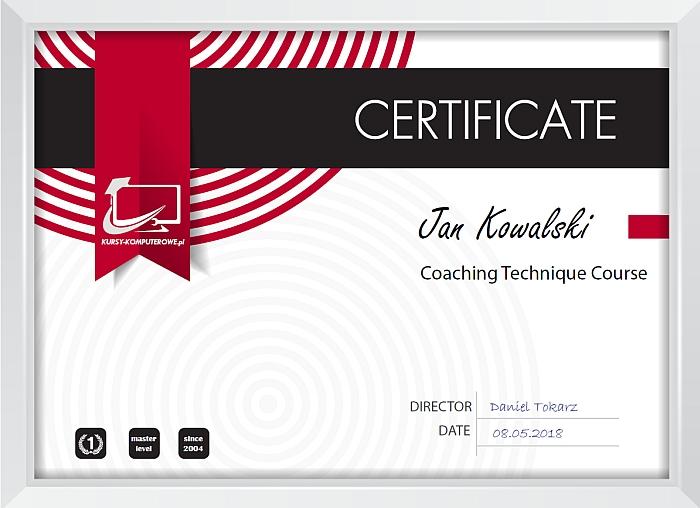 certyfikat coaching