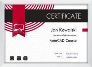 certyfikat autocad