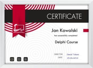 certyfikat delphi