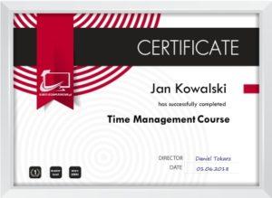 Certyfikat techniki zarządzania czasem